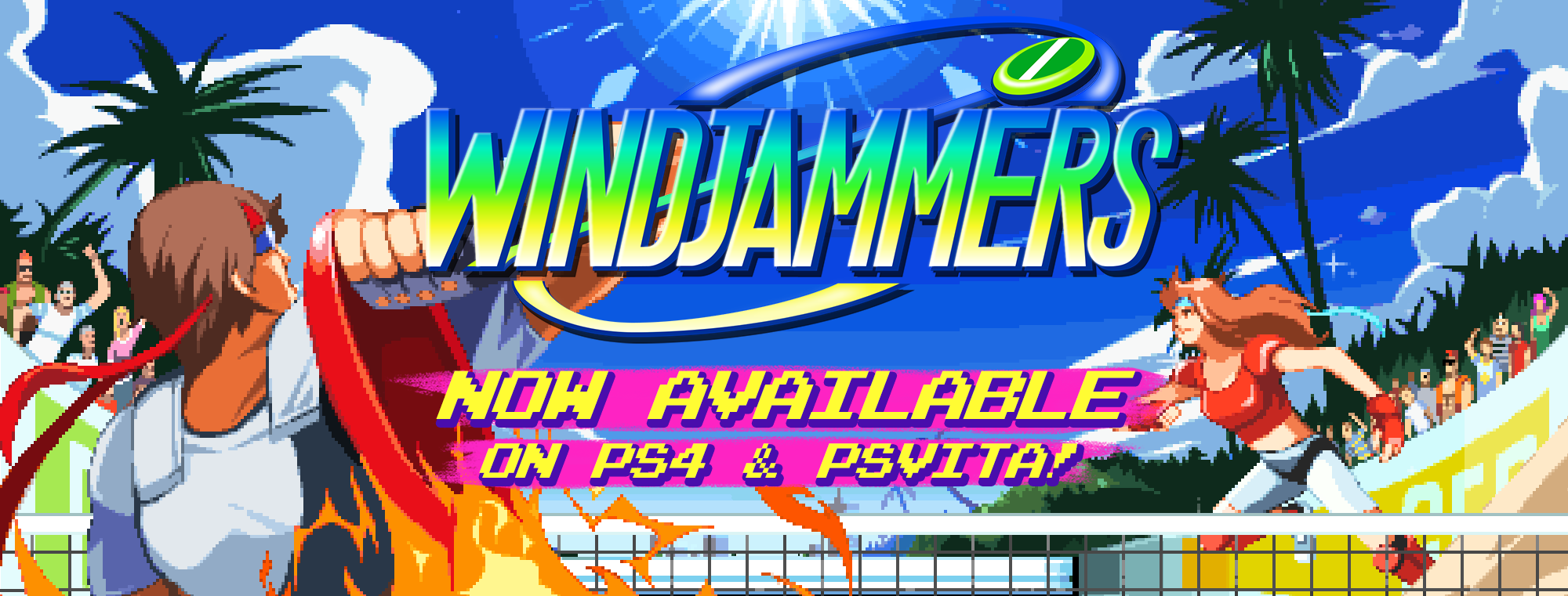Windjammers is now available on PS4 and PS Vita!