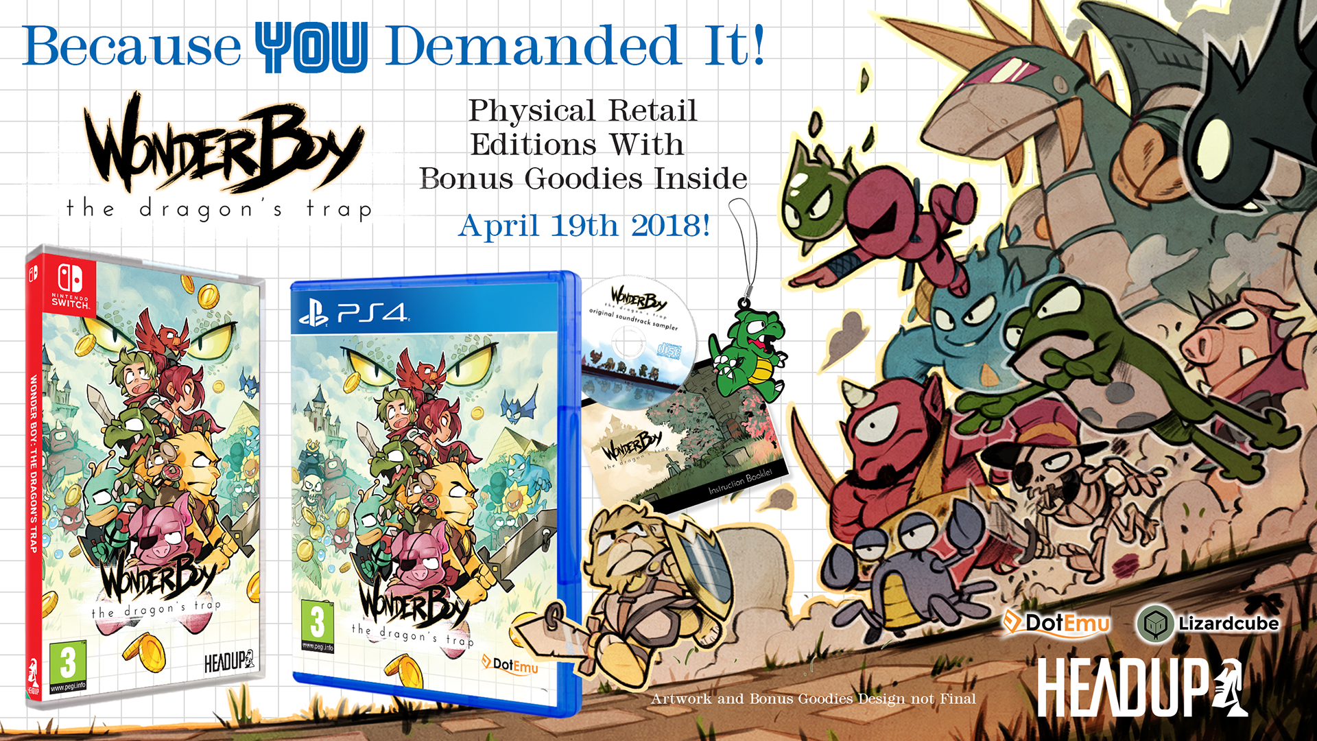 Wonder Boy: The Dragon's Trap physical release date for Europe unveiled!