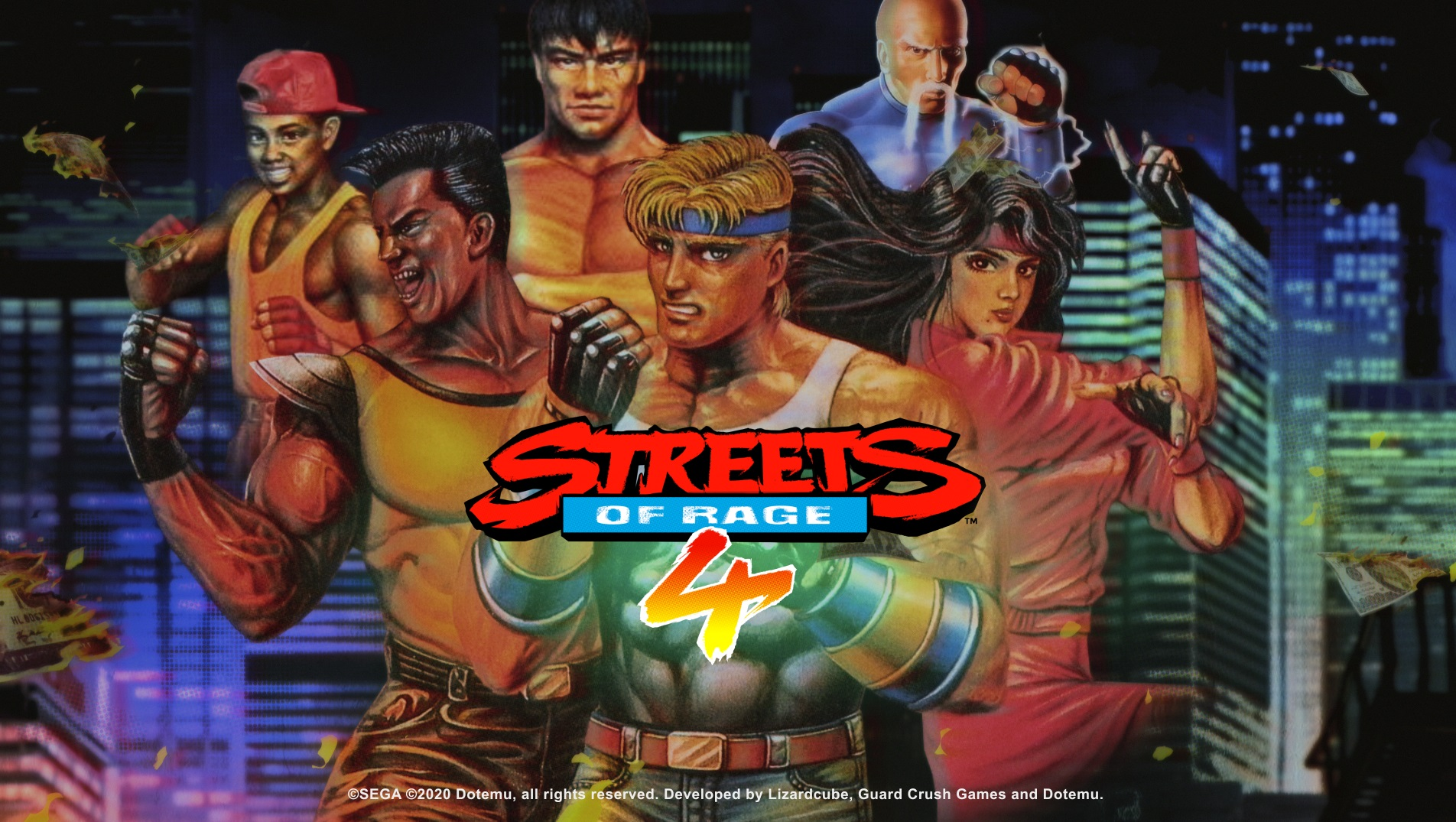Streets of Rage 4 pixel art fighters and classic soundtracks