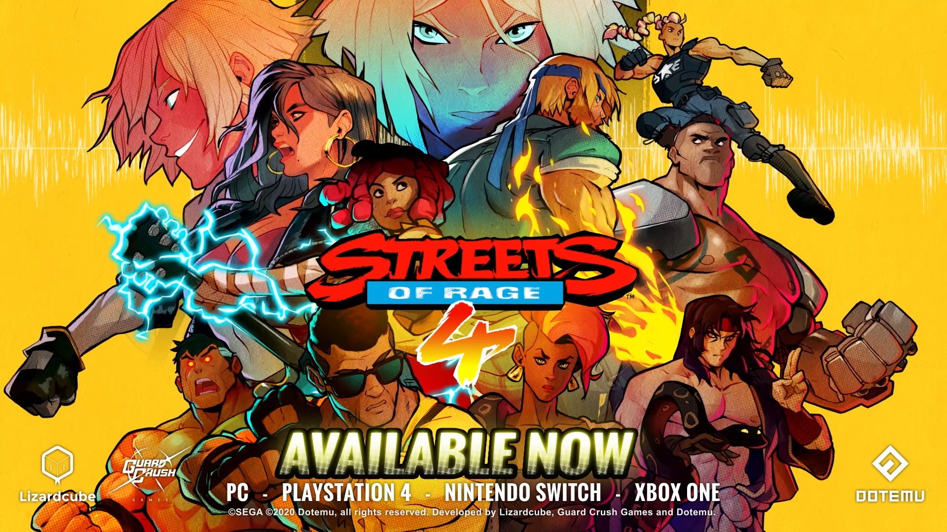 Streets of Rage 4 is now available on PC, Nintendo Switch, PlayStation 4, Xbox One
